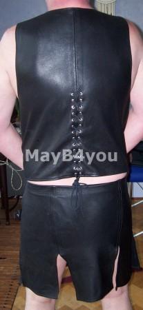 Heren rok met bijpassend vest- achterkant
