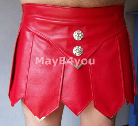 Romeinse heren rok rood - voorkant
