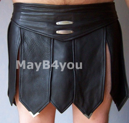 Romeinse heren rok zwart - voorkant