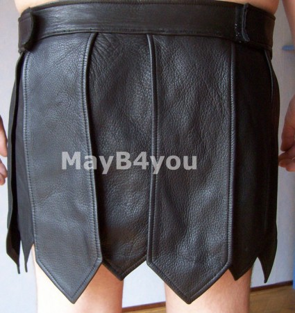Romeinse heren rok zwart - achterkant